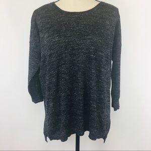 J Crew charcoal heather lightweight sweater!